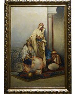 Klavdi Petrovic Stepanov, Orientalistisch tafereel, ca. 1900