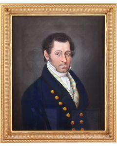 Berend Kunst, portret van een heer, 1824