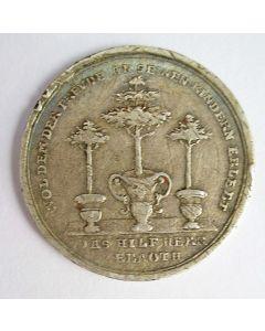 Hamburg. zilveren penning/dukaat op het vierde gebod, 18e eeuw