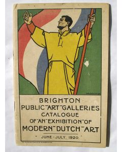 Tentoonstellingscatalogus 'Modern Dutch Art', Brighton 1920. Omslag Willy Sluiter