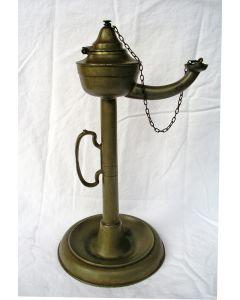 Tinnen raapolielamp, Duitsland 19e eeuw