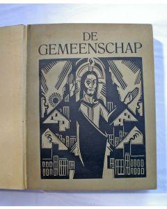 De Gemeenschap, eerste jaargang 1925, met modernistische omslagen