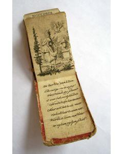 Miniatuur boekje, Almanak voor dames, 1795