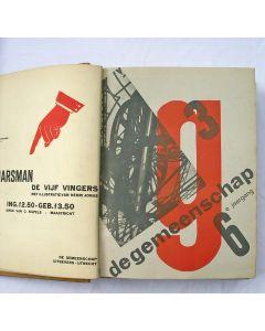 De Gemeenschap, zesde jaargang 1930, met modernistische omslagen