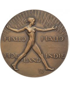 Jaarpenning VPK, 1929 (#1), Radiotelefonische verbinding Holland-Indië