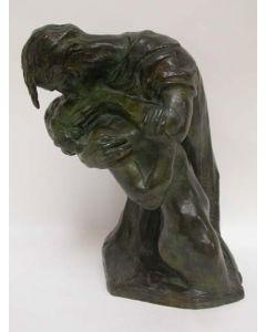 Bronzen beeld, gesigneerd Eduard Vereycken, De kus