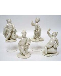 Groep beeldjes, De vier jaargetijden, Nymphenburg, ca. 1900