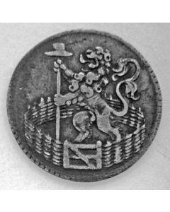 Holland, zilveren duit 1753