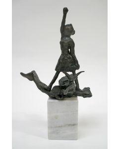 Truus Menger, bronzen sculptuurtje, ca. 1980