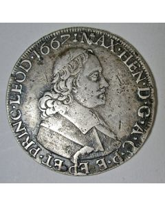 Luik, zilveren dukaton, 1667
