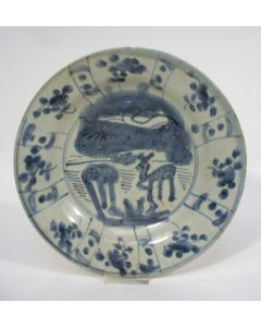Chinese porseleinen bord, Ming periode, ca. 1600
