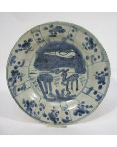 Chinese porseleinen bord, Ming periode, ca. 1600