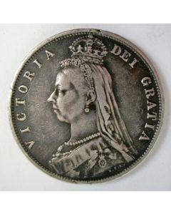 Engeland, 1/2 crown, 1888