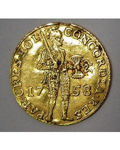 Holland, gouden dukaat 1758