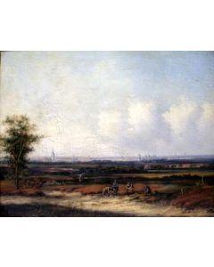 Carl Eduard Ahrends, Reizigers in een landschap