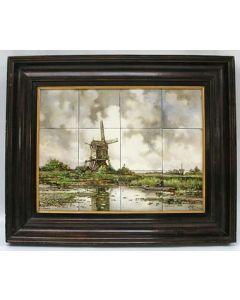 Tegeltableau, De Molen van Abcoude, Holland-Utrecht, ca. 1900.