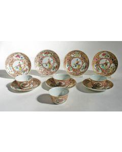 Serie famille rose kommetjes en schotels, YongZheng periode, 18e eeuw