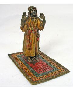 Weens bronzen beeldje, Biddende Arabier, ca. 1900