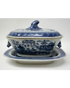 Chinese porseleinen terrine, Qianlong periode
