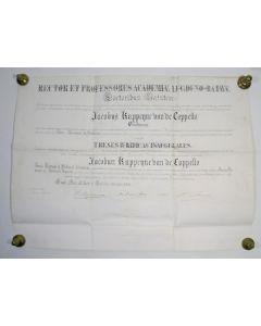 Doctorsbul van J. Kappeyne van de Coppello, Leiden 1876