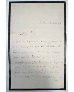 Brief van W. Groen van Prinsterer aan J. Kappeyne van de Coppello, 1876