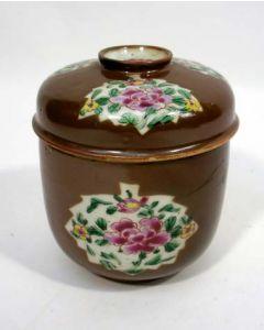 Capucijner famille rose suikerpot, 18e eeuw