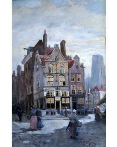 Jan de Jong, Rotterdams stadsgezicht, 1893