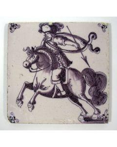 Tegel, saraceen,18e eeuw