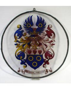 Familiewapen Harte van Tecklenburg, gebrandschilderd glas