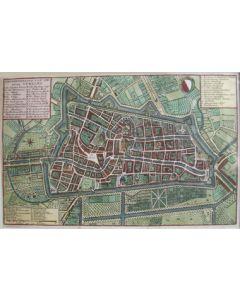 De stad Utrecht, gravure, 18e eeuw