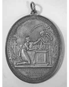 Vijftigjarig bestaan van de vrijmetselaarsloge La Vertu in Leiden. Tevens ter herinnering aan de buskruitramp in die stad, 1807.