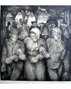 Willem van den Berg, Boerenkermis, litho