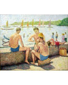Jac Bos, Zwemmers op een kade