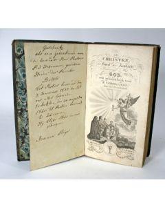 De Christen in geest en aandacht vereenigd met God: een gebedenboek voor R.Catholijken. (Met inscriptie gerelateerd aan de Limburgse dorpen Belfeld en Sevenum) [1833]