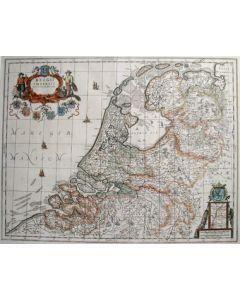 Kaart van Nederland, 17e eeuw