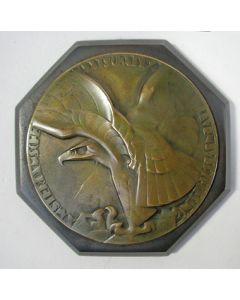 Bronzen presse-papier, Amsterdamsche Maatschappij van Levensverzekering, 1930 [Chris van der Hoef]