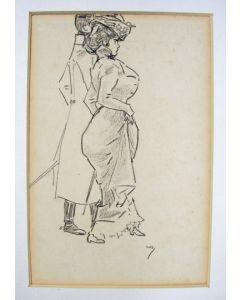 Willy Sluiter, Dame met een officier, ca. 1910