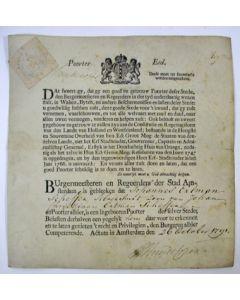 Poorterseed, Amsterdam 1791