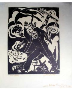 Hildo Krop, De dichter, houtsnede