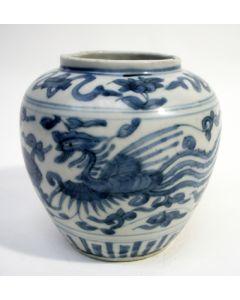 Chinese porseleinen buikvaas, Ming periode, ca. 1600
