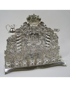 Zilveren chanoekalamp