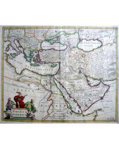 Kaart van Turkije, 17e eeuw