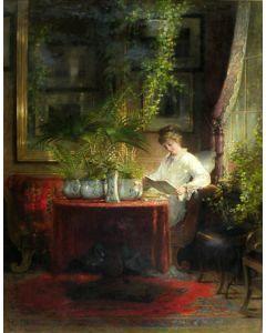 Hein Burgers, Lezende jonge vrouw, 1873
