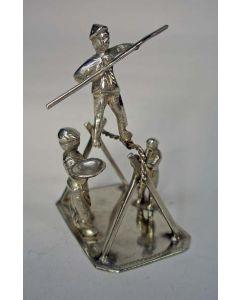Zilveren miniatuur, koorddanser, ca. 1900