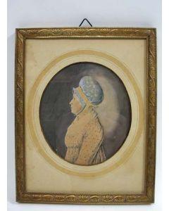 Portret van een dame met een neepjesmuts, ca. 1800