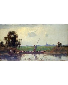 Henk Welther (Jan Knikker Jr.), Plasgezicht met vissersboten