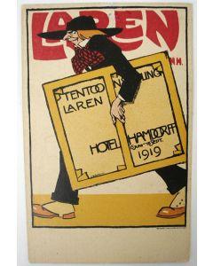 Willy Sluiter, Hamdorff Laren 1916, lithografische prentbriefkaart,