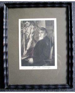 Jan Toorop, gesigneerde portretfoto