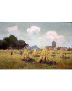 Cornelis de Bruyn, Korenveld bij Leersum