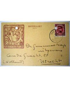 Briefkaart van Stijn Streuvels aan Albert Kuyle, 1932